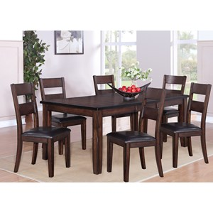 7 Piece Table and Chair Dining Set