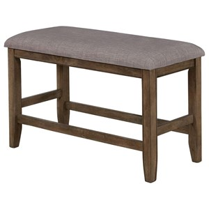 Casual Upholstered Counter Height Bench