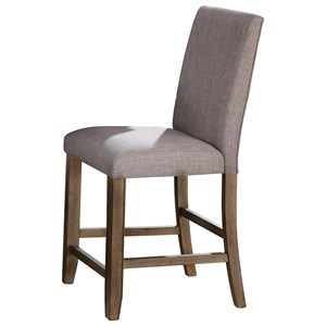 Casual Counter Height Stool with Nailhead Trim