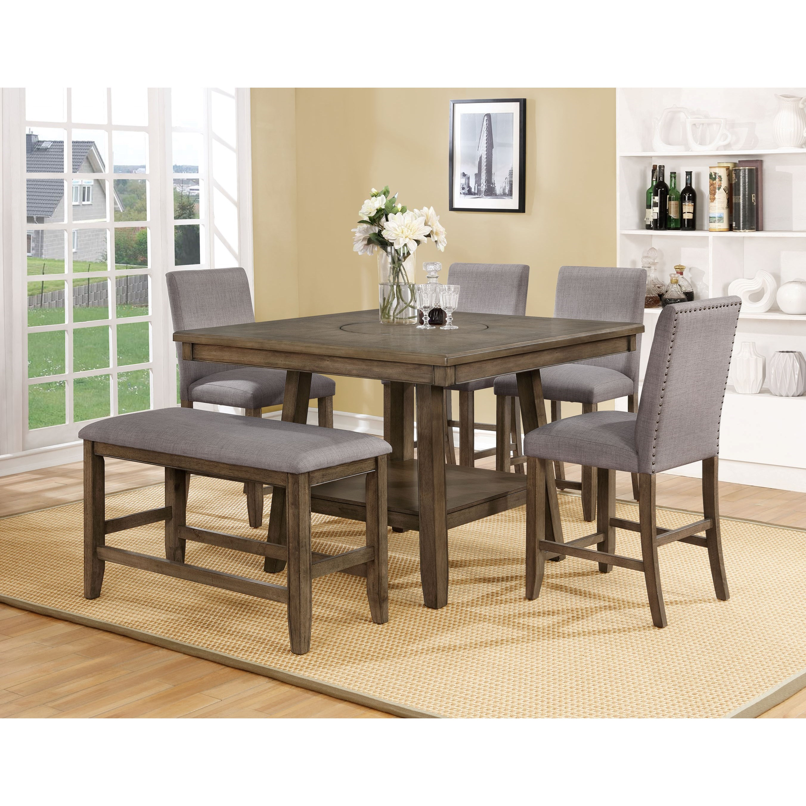 Manning Counter Height Table Set by Crown Mark at Catalog Outlet