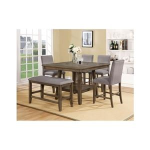 Counter Height Table Set With Lazy Susan
