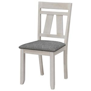 Cottage Style Upholstered Dining Side Chair