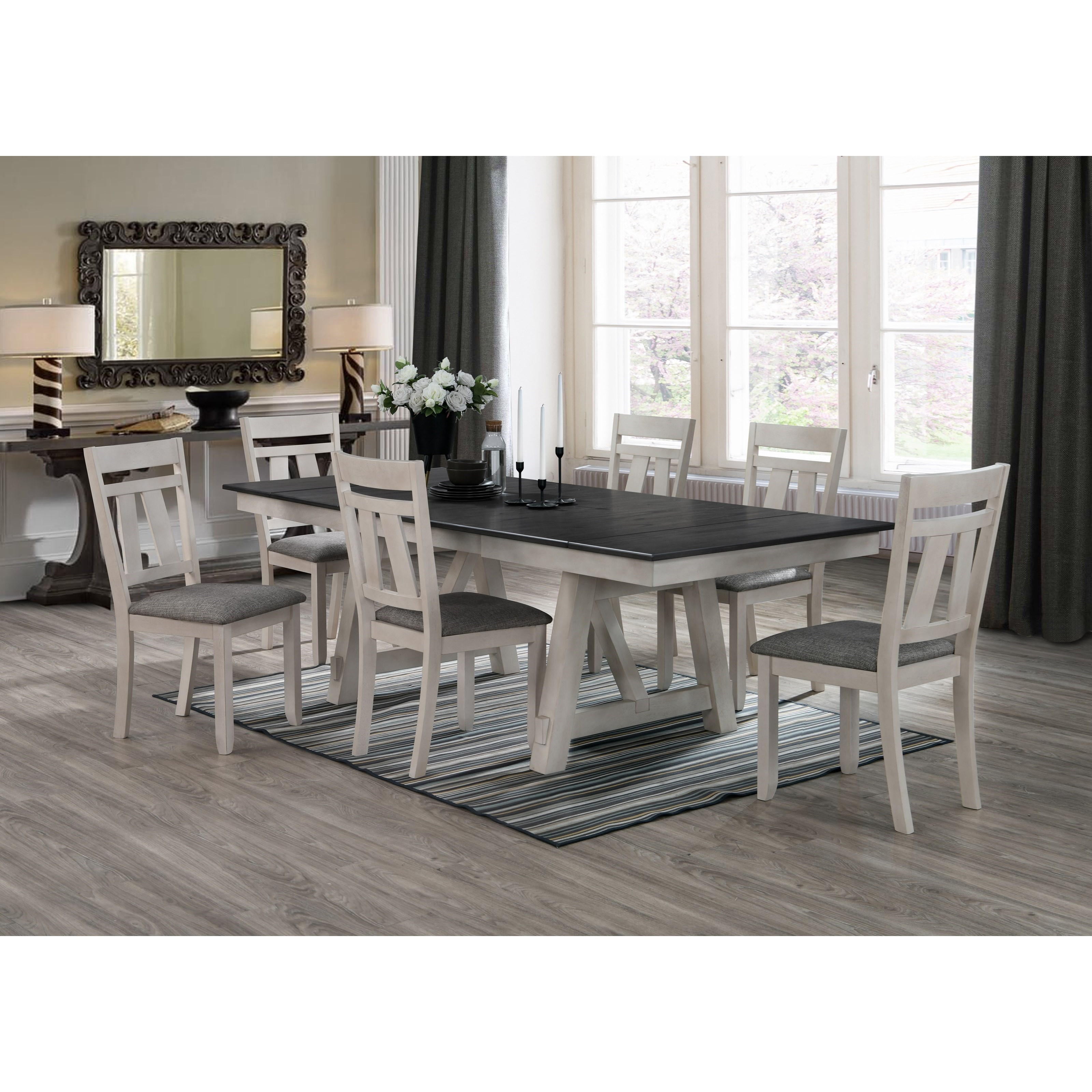 Maribelle 7-Piece Table and Chair Set by Crown Mark at Northeast Factory Direct