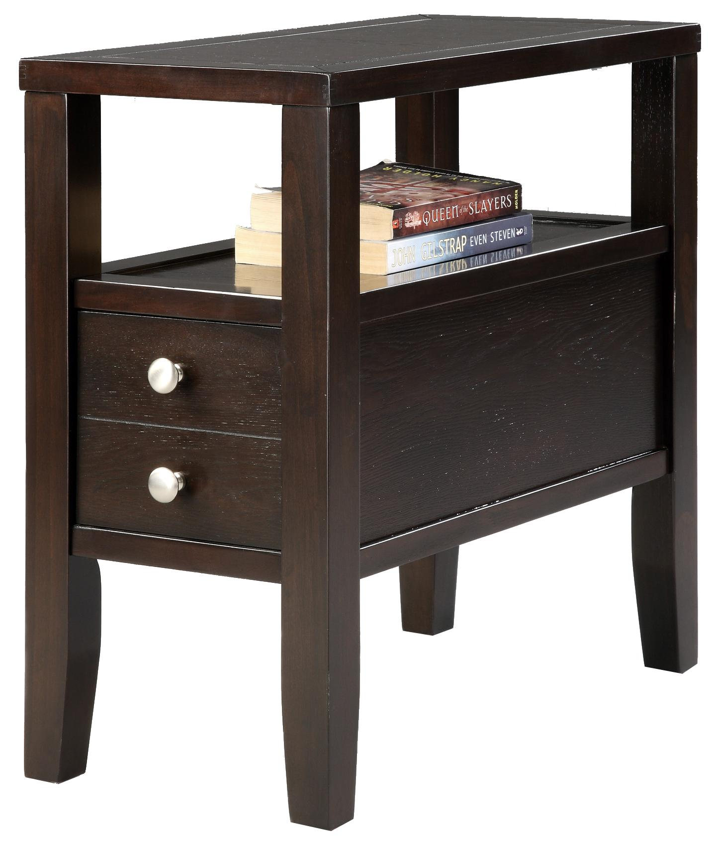 Matthew Chairside Table by Crown Mark at Darvin Furniture