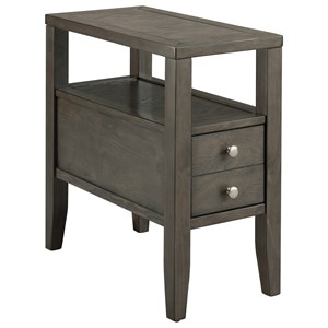 Chairside Table with Two Drawers