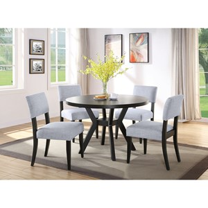 Contemporary 5-Piece Dining Set with Round Table