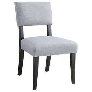 Contemporary Dining Side Chair with Upholstered Seat