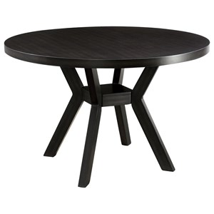 Contemporary Round Dining Table with Angled Legs