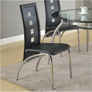 Side Chair with Square Cutouts Seat Back