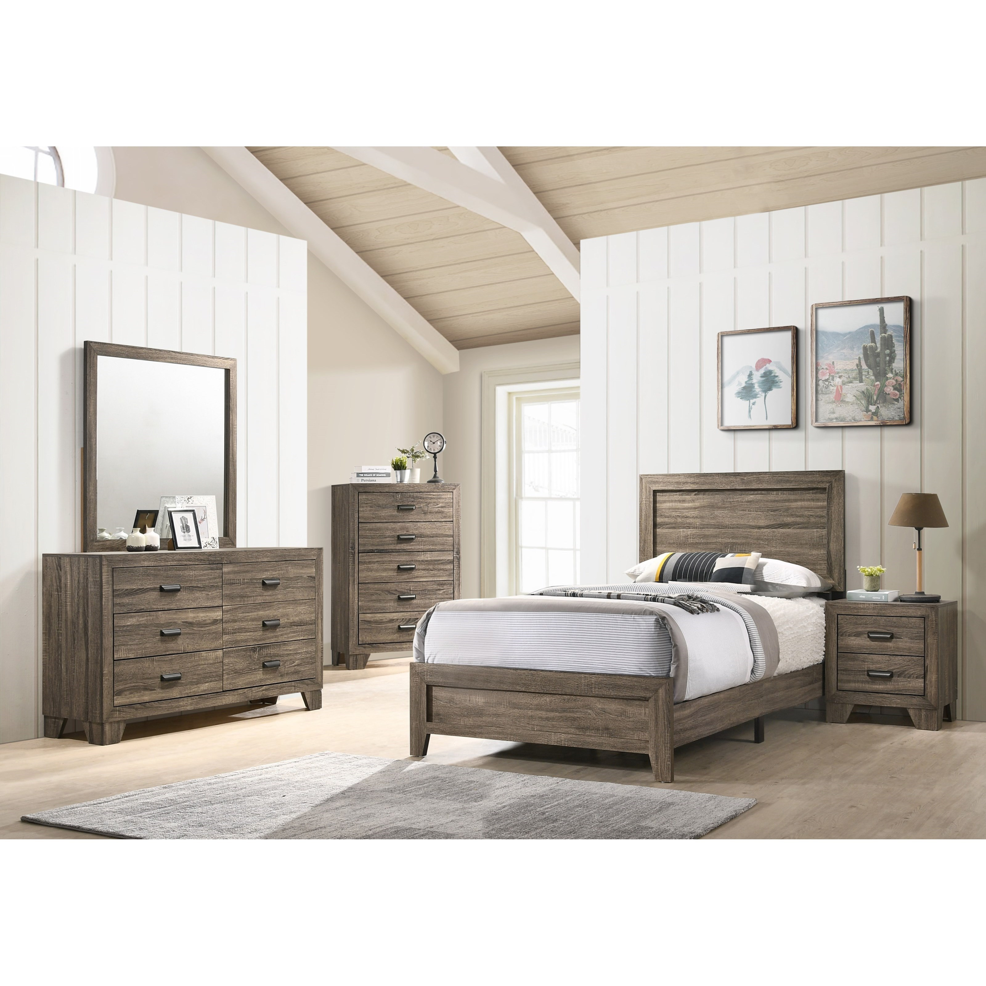 Millie Twin Bedroom Group by Crown Mark at Catalog Outlet