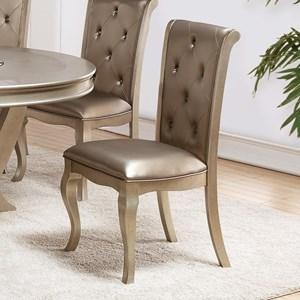 Golden Upholstered Side Chair