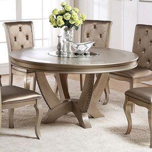 Golden Round Table with Lazy Susan