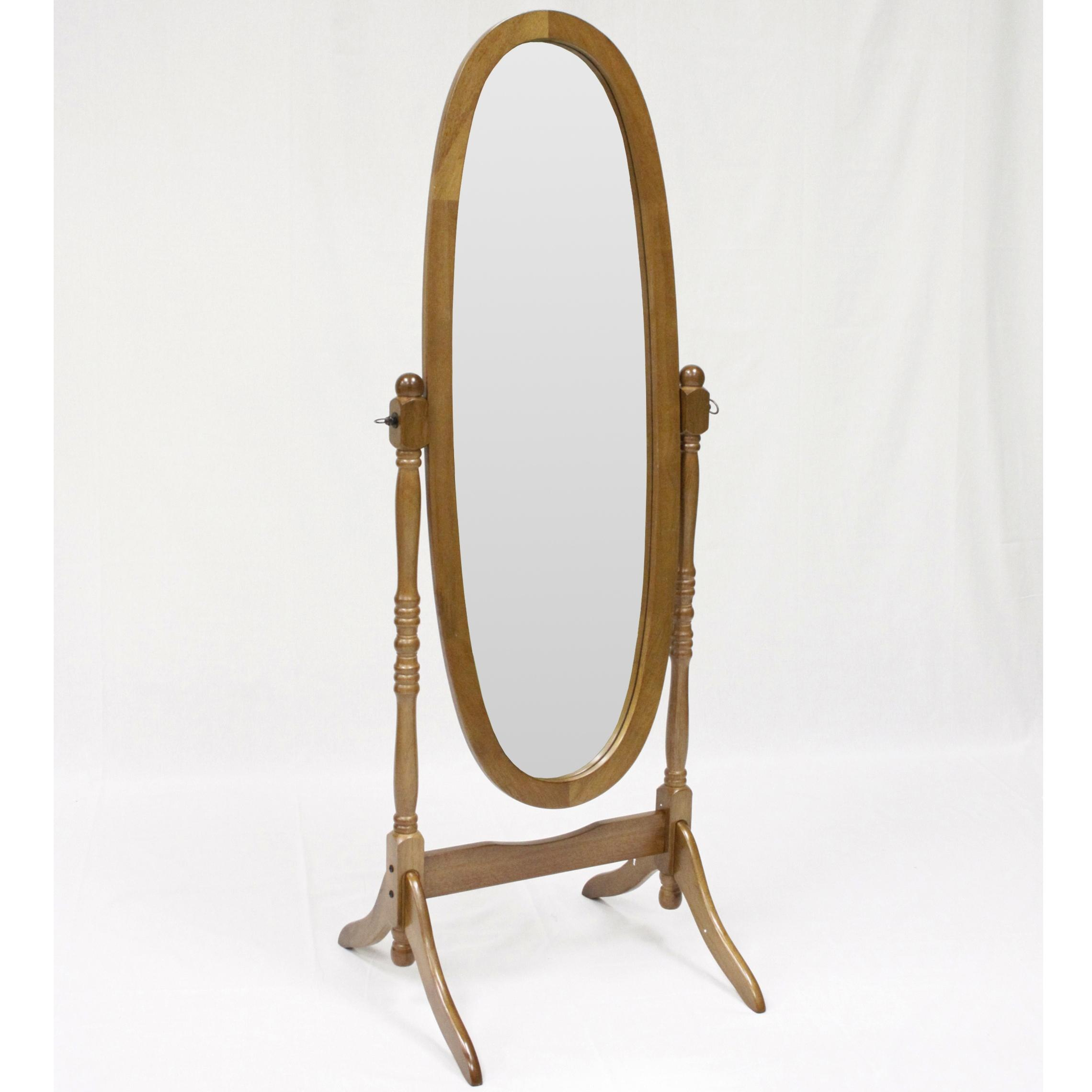 Miscellaneous Oak Finish Cheval Mirror by Crown Mark at Bullard Furniture