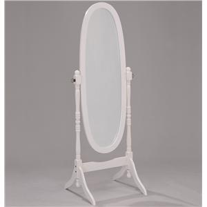 White Finish Cheval Mirror