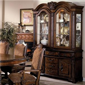 Buffet and Hutch with Two Glass Doors
