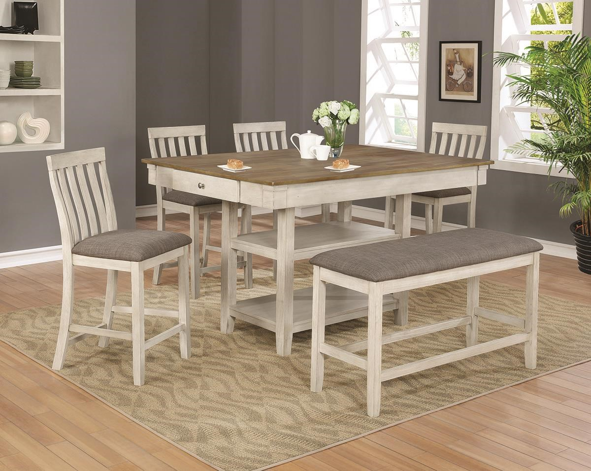 Nina 5 Piece Counter Height Dining Set by Crown Mark at Darvin Furniture