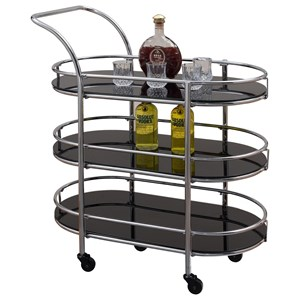 Serving Cart with 3 Shelves