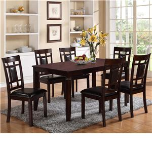 7 Piece Table and Chair Set  with Block Feets