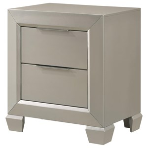 Contemporary 2 Drawer Night Stand
