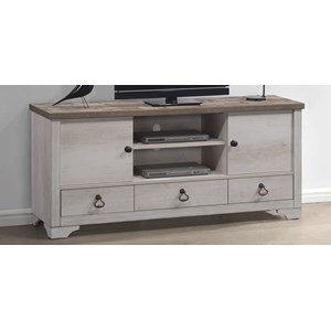 Coastal Cottage Media Chest with Wire Management