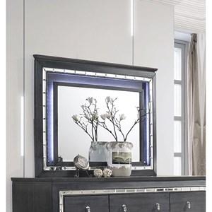 Dresser Mirror with LED Lit Frame