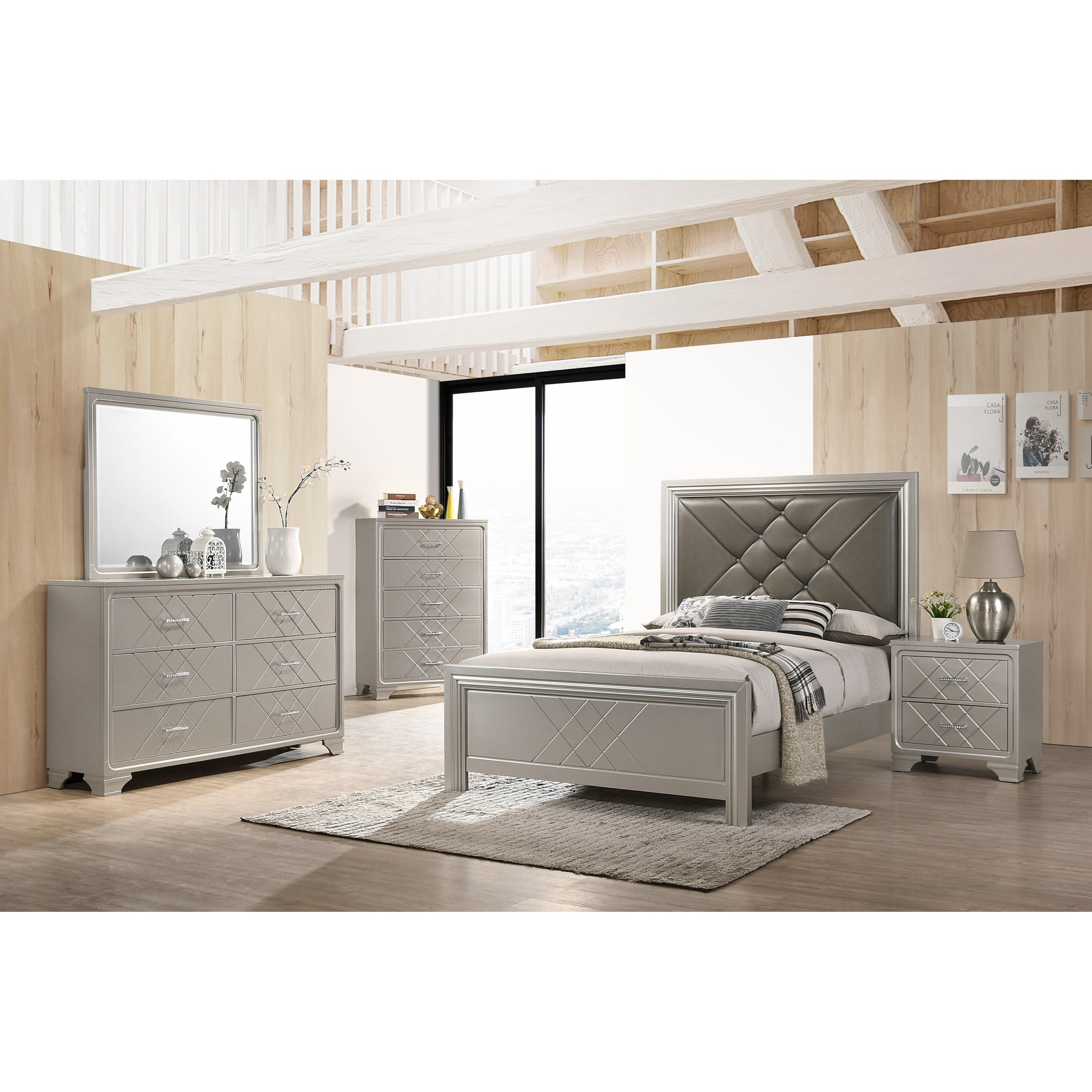 Phoebe California King Bedroom Group by Crown Mark at Northeast Factory Direct