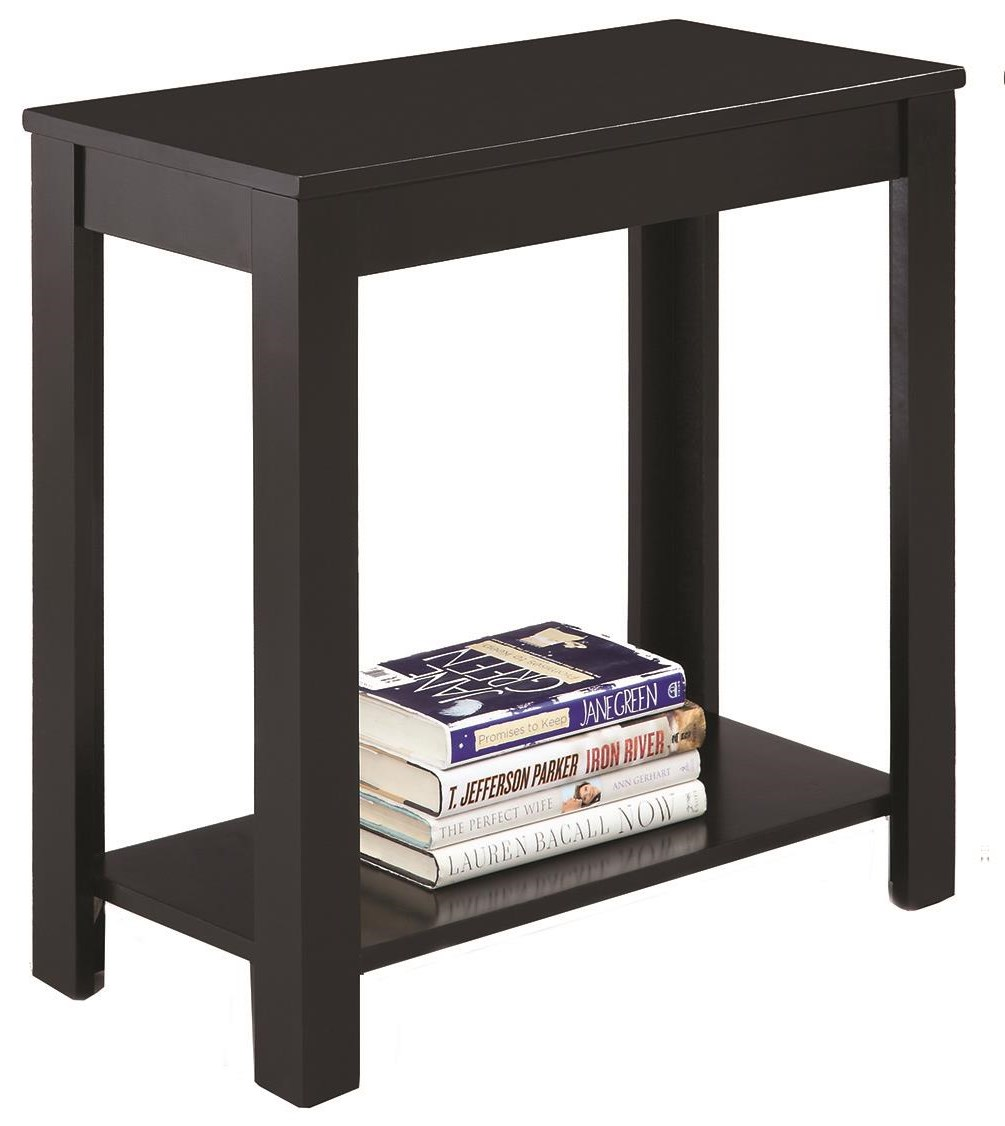Pierce Chairside Table W/Inlay Shelf by Crown Mark at Darvin Furniture