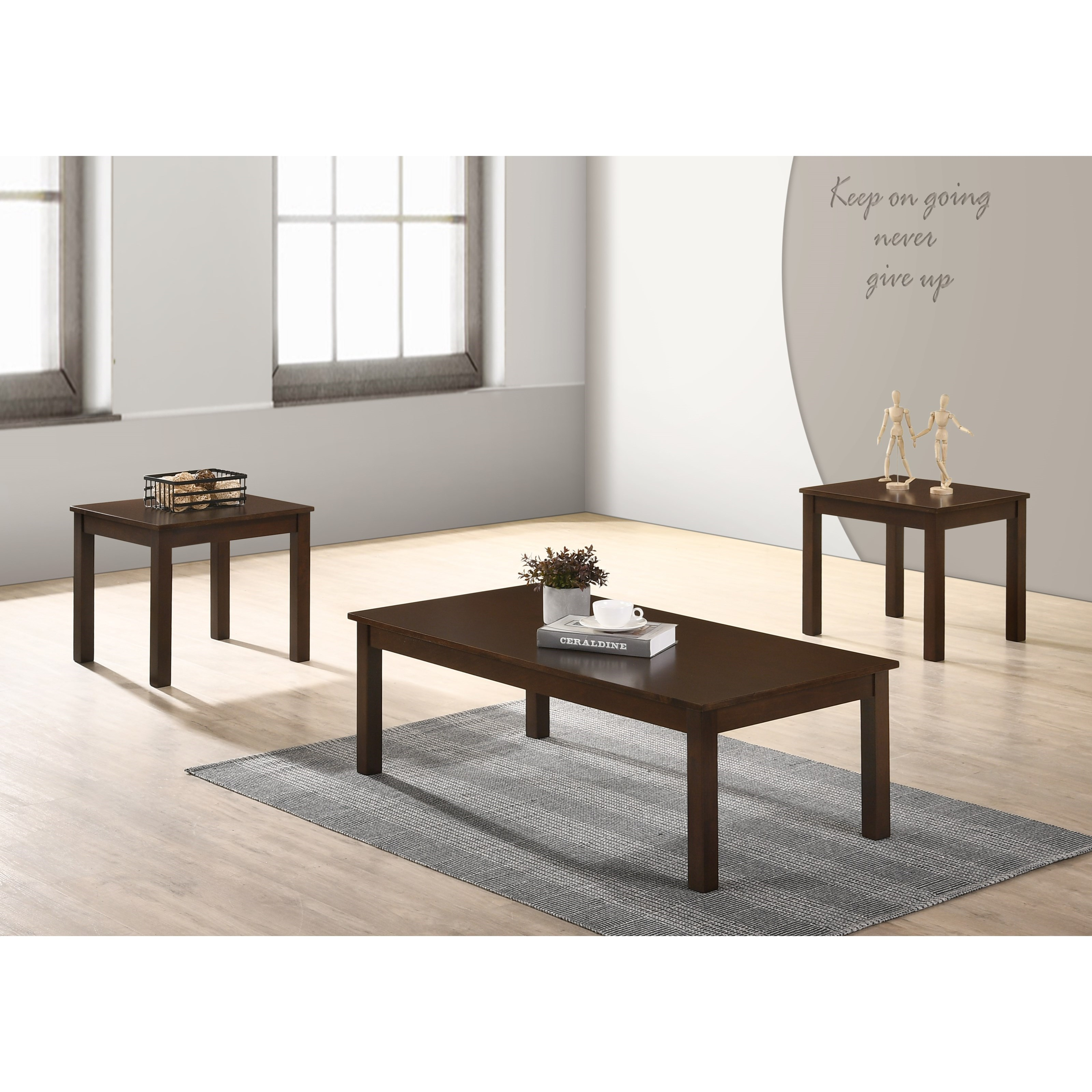 Pierce 3-Piece Occasional Table Set by Crown Mark at Northeast Factory Direct