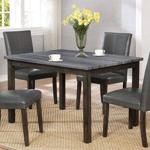 Two Tone Rectangular Dining Table with Weathered Grey Top