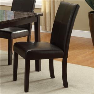 Upholstered Dining Side Chair with Accent Stitching