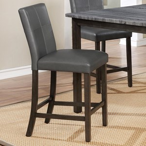 Counter Height Chair with Accent Stitching