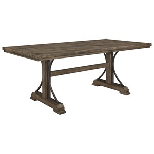 Dining Table with Trestle Base