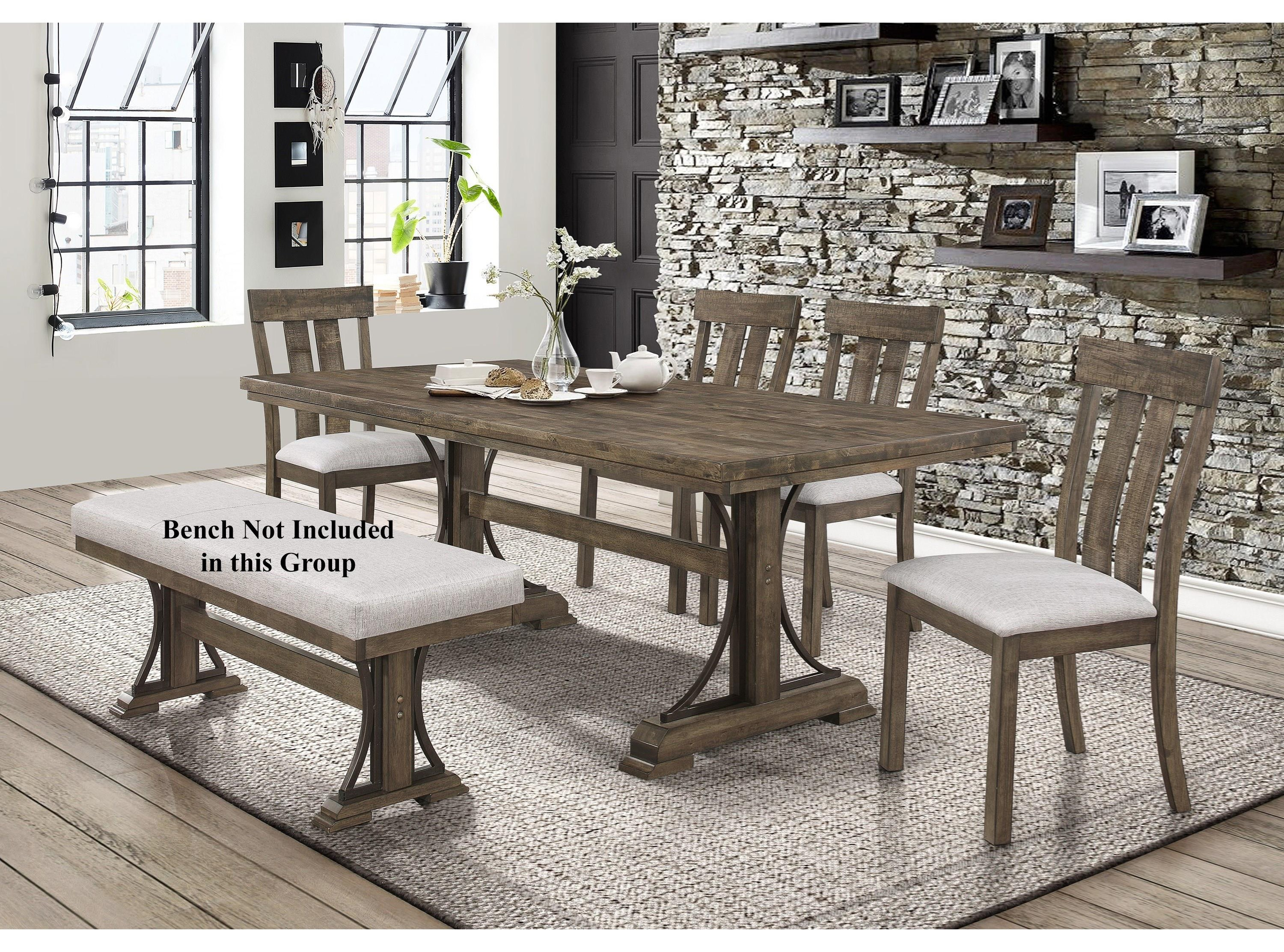 Quincy 5 Piece Table and Chair Set by Crown Mark at Wayside Furniture
