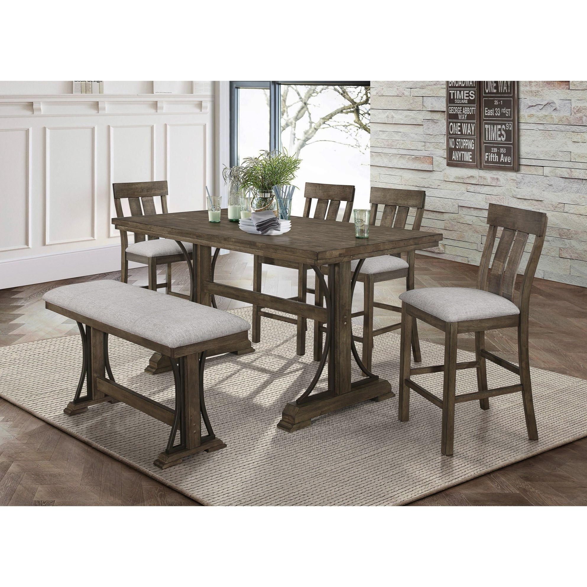 Quincy Counter Height Table Set by Crown Mark at Bullard Furniture
