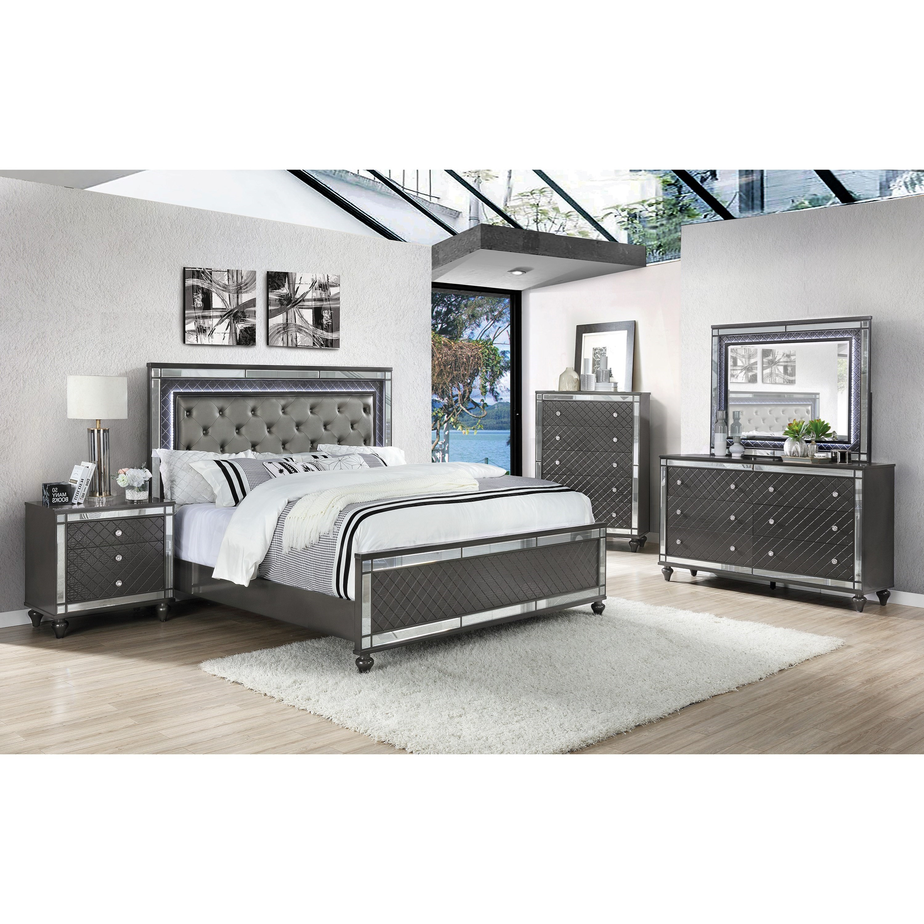 Refino King Bedroom Group by Crown Mark at Northeast Factory Direct