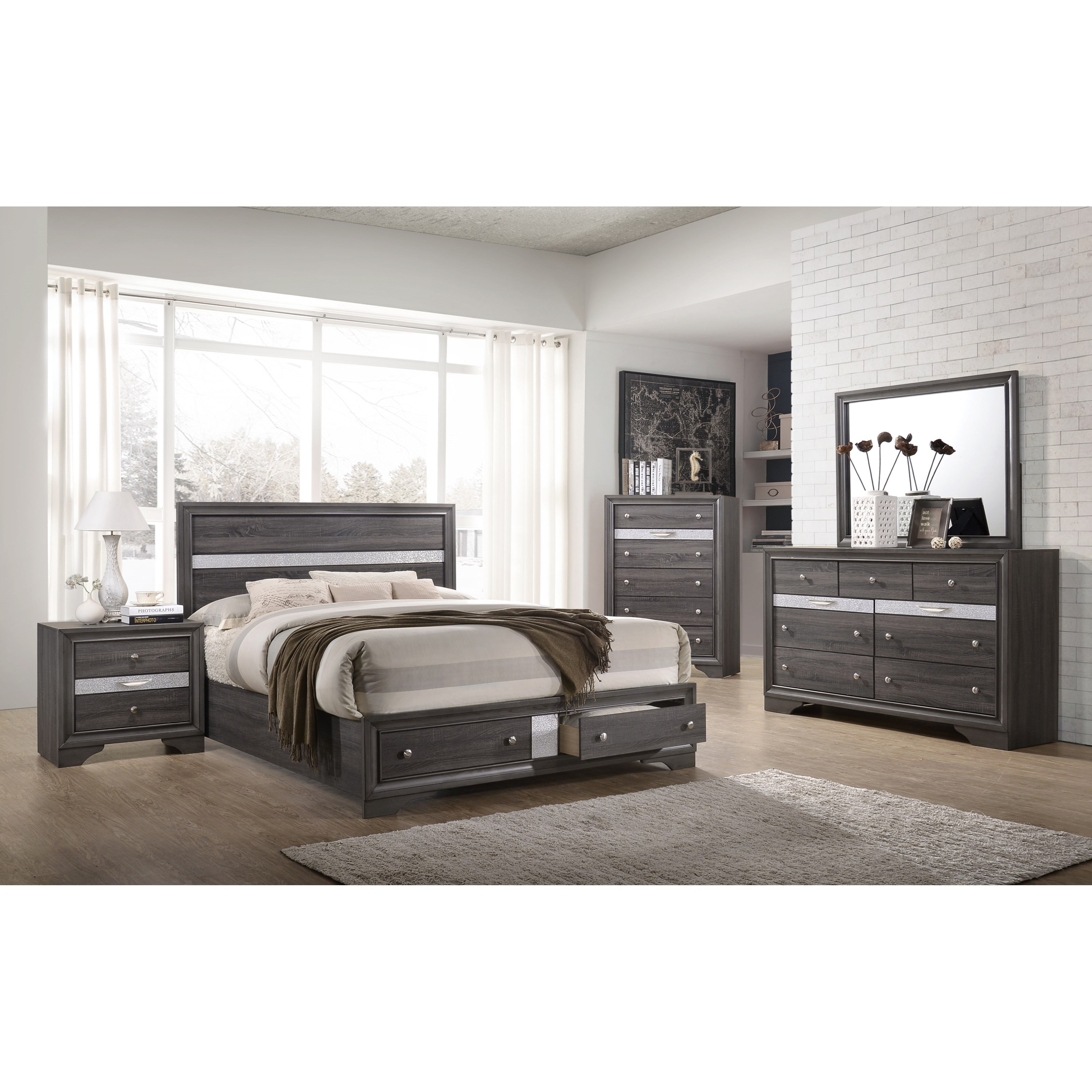Regata Queen Bedroom Group by Crown Mark at Northeast Factory Direct