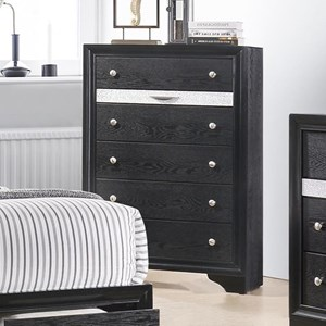 Contemporary 6 Drawer Chest with Jewelry Drawer
