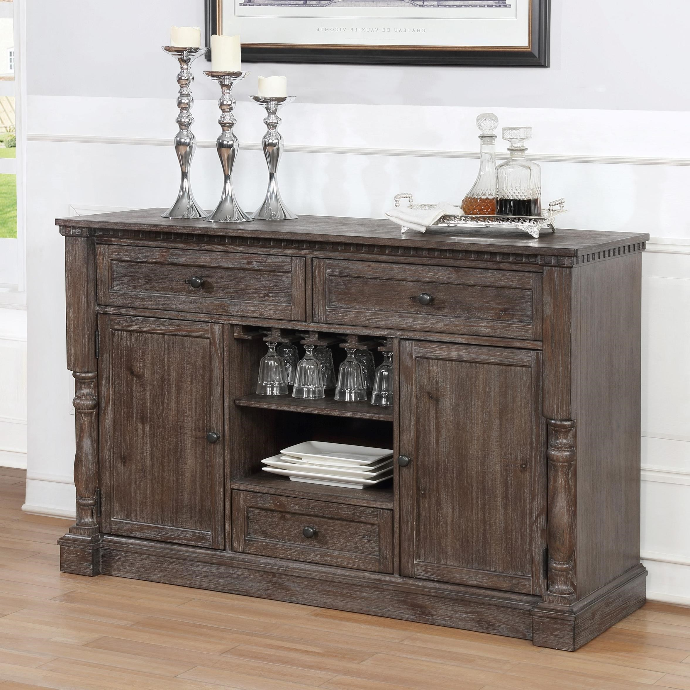 Regent Dining Room Server by Crown Mark at Nassau Furniture and Mattress
