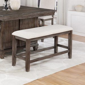 Transitional Counter Height Dining Bench