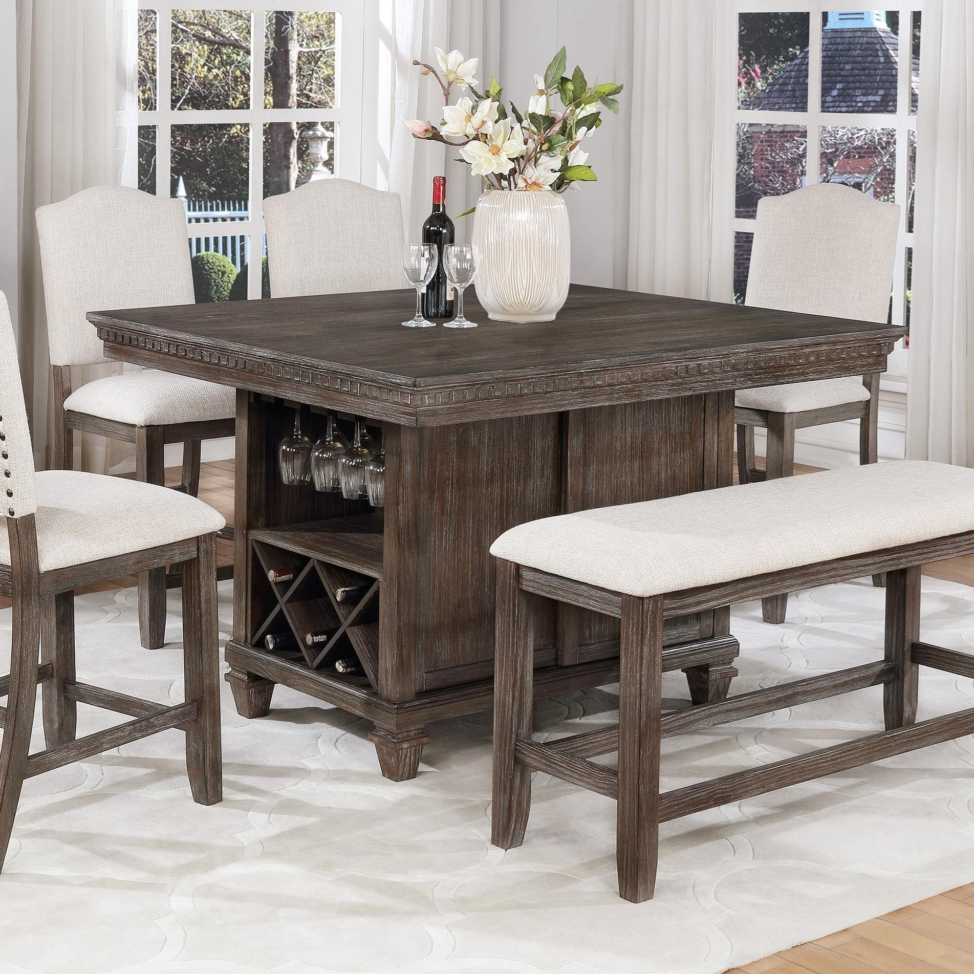Regent Counter Height Table by Crown Mark at Wilcox Furniture