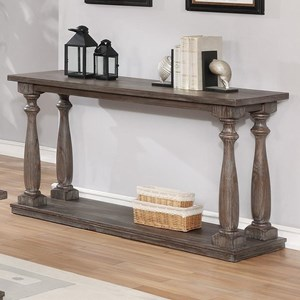 Transitional Sofa Table with Turned Legs