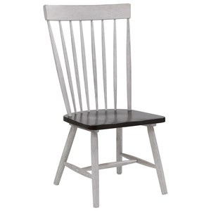 Rustic Dining Side Chair with Distressed Finish