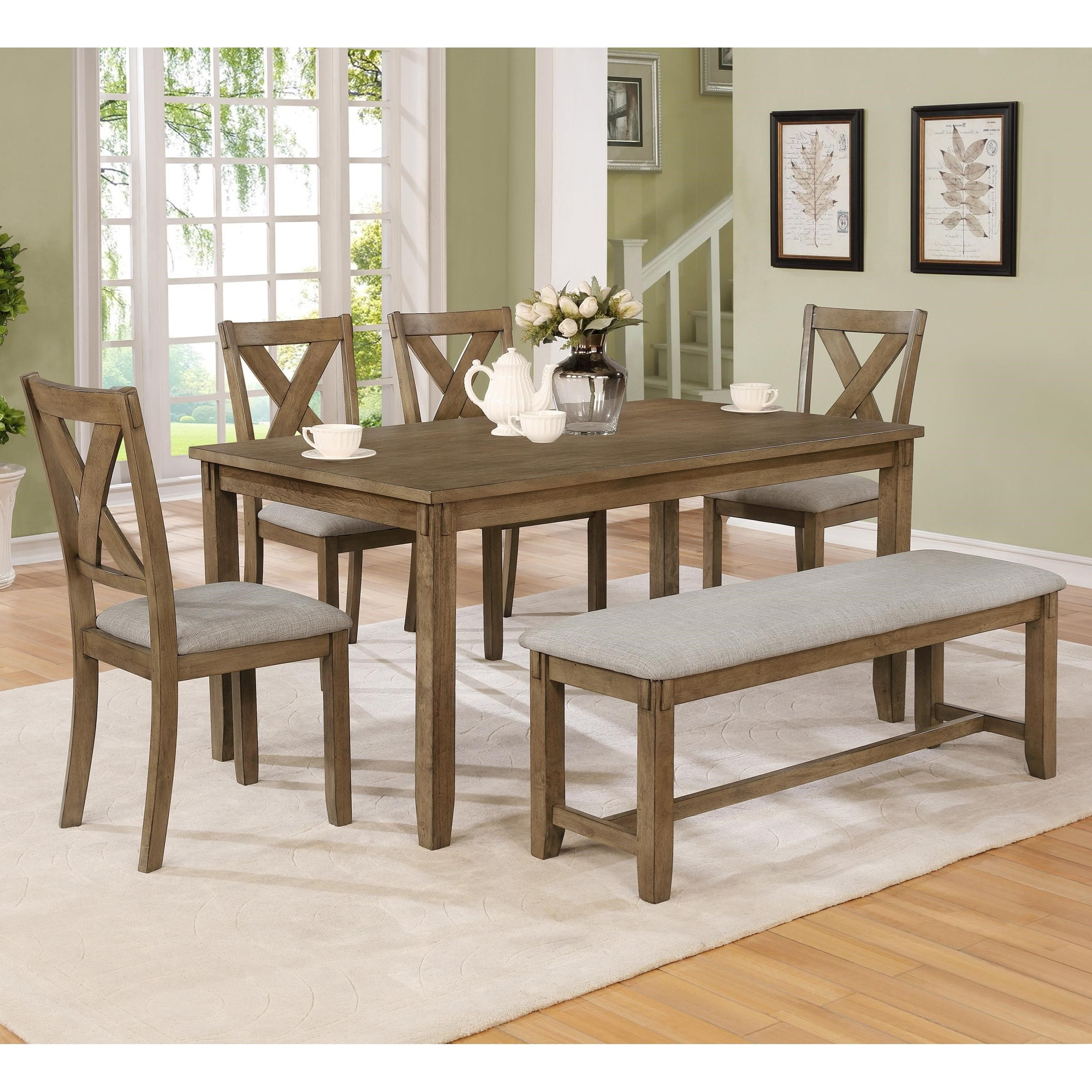 Clara 6 Piece Table and Chairs Set by Crown Mark at Darvin Furniture