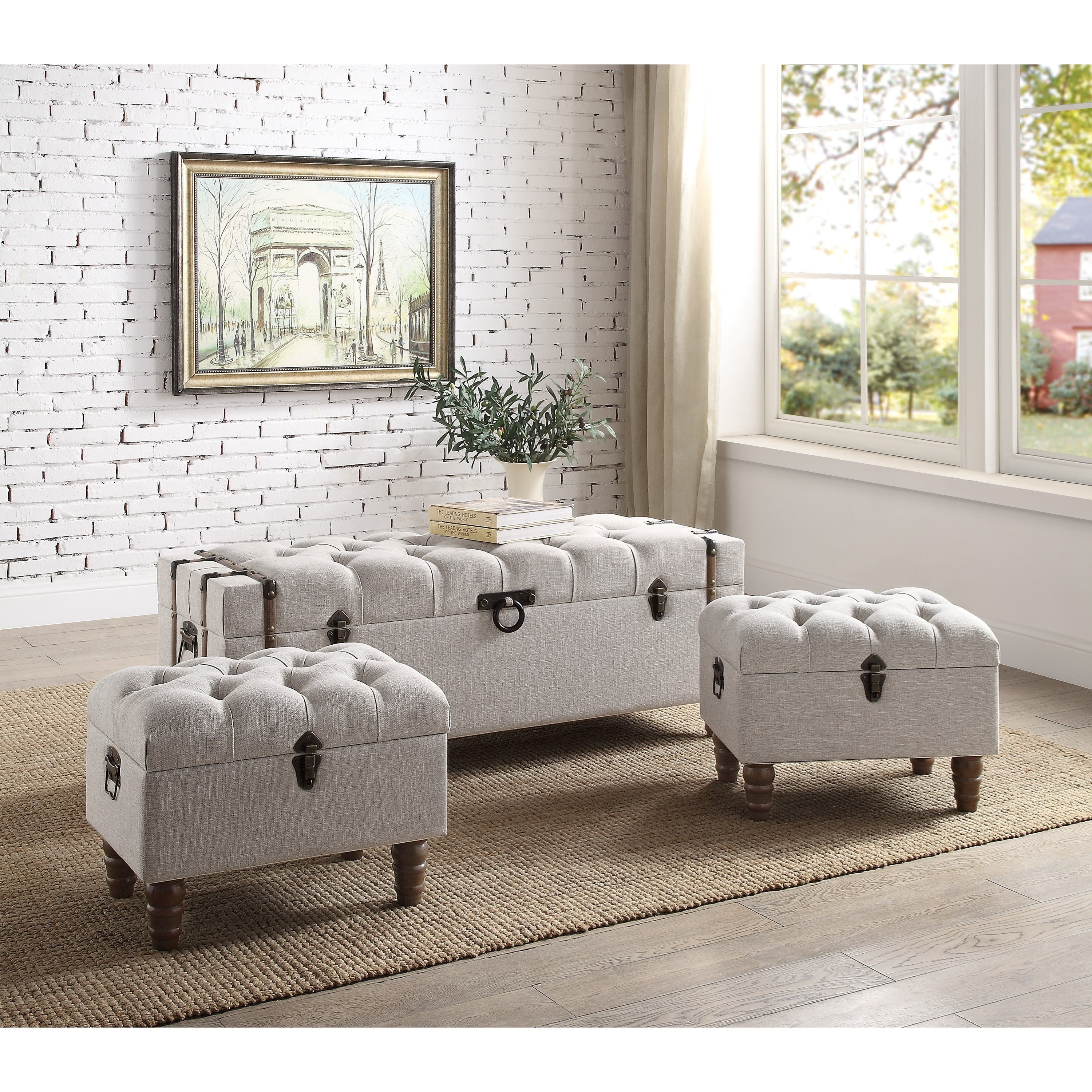 Sachi 3Pc Storage Ottoman Set by Crown Mark at Northeast Factory Direct