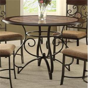Casual Dining Table with Scoll Design