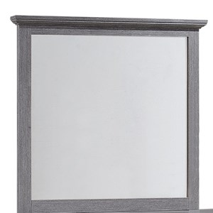 Casual Weathered Gray Mirror