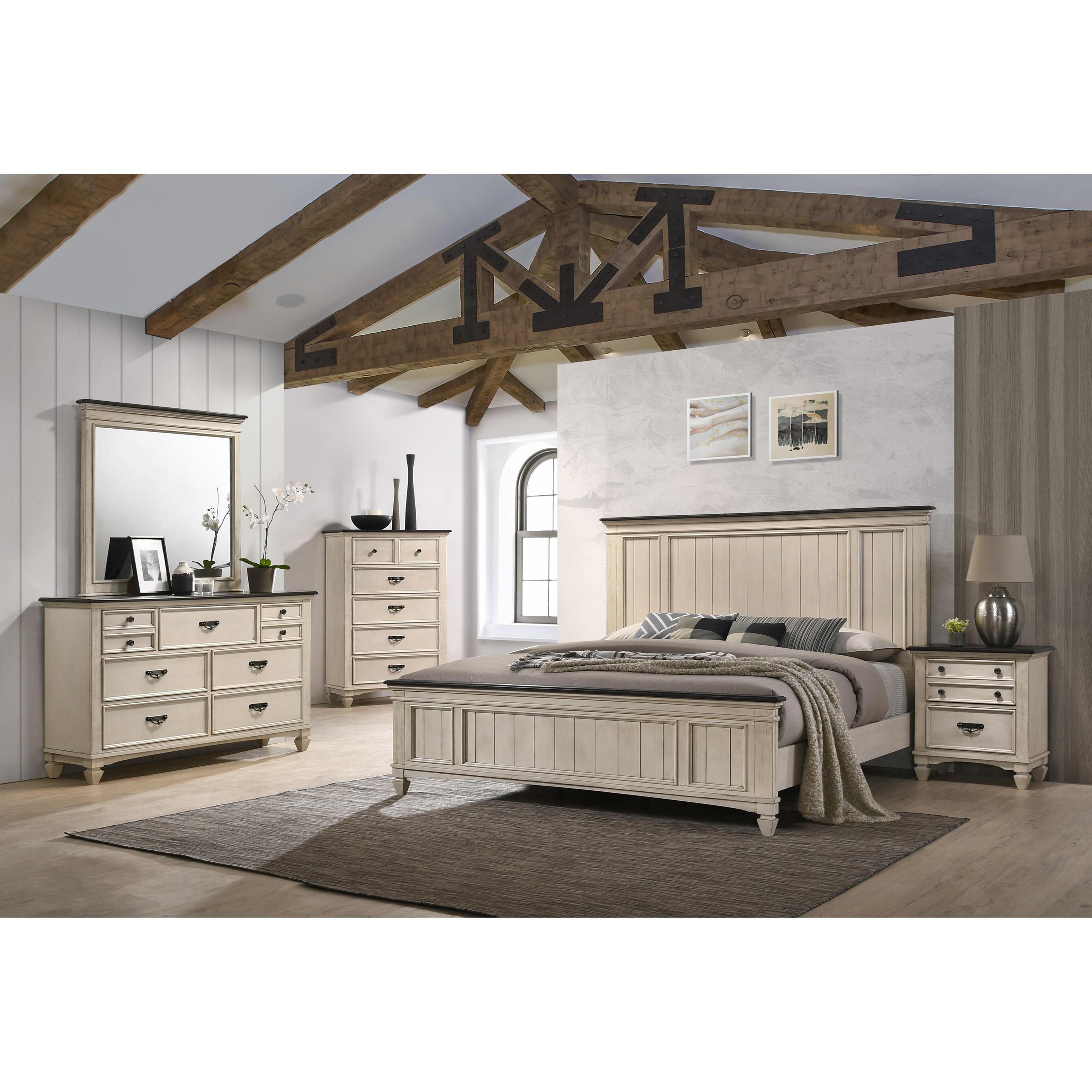 Sawyer King Bedroom Group by Crown Mark at Northeast Factory Direct