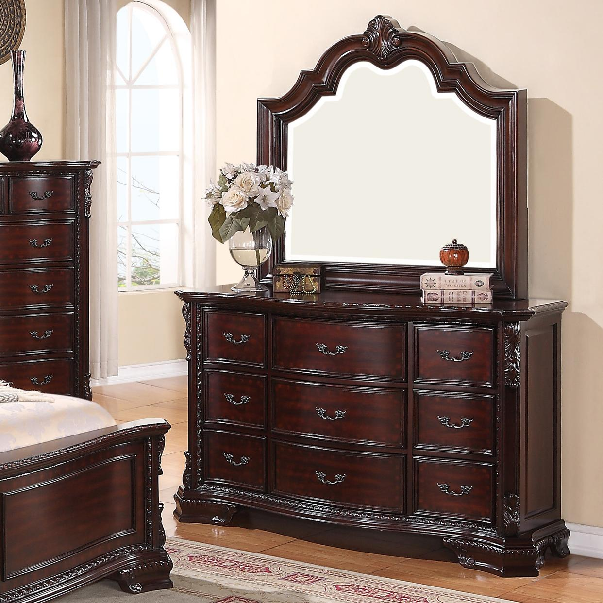 Sheffield Dresser and Mirror Set by Crown Mark at Northeast Factory Direct