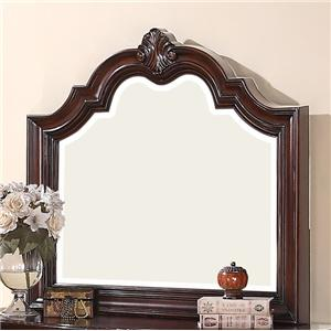 Dresser Mirror with Wood Carved Frame and Molding