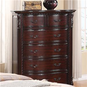 Chest of 6 Drawers with Bail Pulls